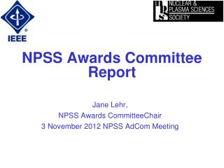 NPSS Awards Committee Report