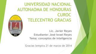 UNIVERSIDAD NACIONAL AUTONAOMA DE HONDURAS CUROC TELECENTRO GRACIAS