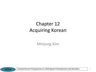 Chapter 12 Acquiring Korean