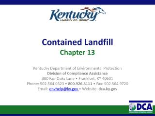 Contained Landfill Chapter  13