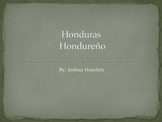 Honduras H ondureño