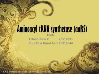 Aminoacyl tRNA synthetase (aaRS)