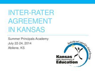 Inter-rater Agreement  In Kansas