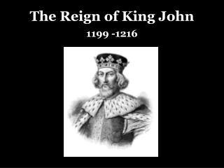 The Reign of King John