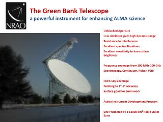 The Green Bank Telescope a powerful instrument for enhancing ALMA science