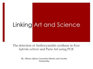 Linking  Art and Science