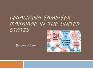Legalizing Same-Sex Marriage in the United States