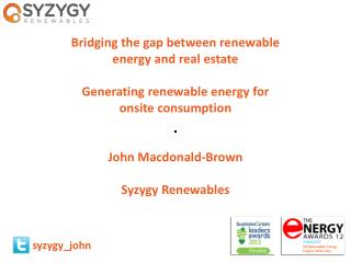 Bridging  the gap between renewable energy and real  estate