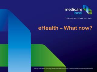 eHealth � What now?