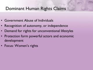 Dominant Human Rights Claims