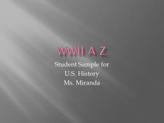 WWII A-Z