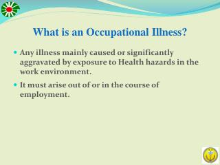 What is an Occupational Illness?
