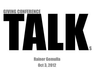 TALK S