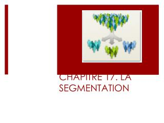CHAPITRE 17. LA SEGMENTATION