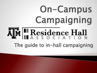 On-Campus Campaigning