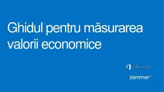 Ghidul pentru m?surarea valorii economice