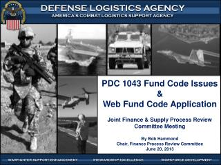 PDC 1043 Fund Code Issues & Web Fund Code Application