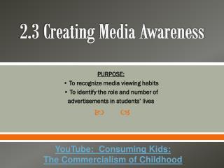 2.3 Creating Media Awareness