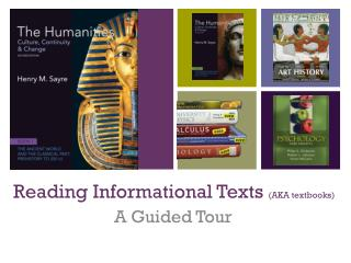 Reading Informational Texts  (AKA textbooks)