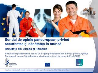 Sondaj de opinie paneuropean privind  securitatea şi sănătatea în muncă