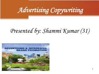 Presented by: Shammi Kumar (31)