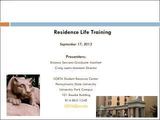 Residence Life Training