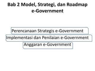 Bab  2  Model , Strategi, dan Roadmap e-Government