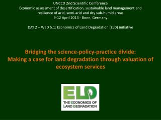 UNCCD 2nd Scientific Conference