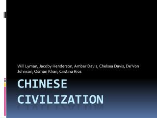 Chinese Civilization