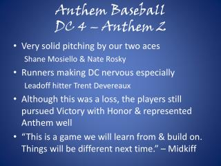 Anthem Baseball DC 4 – Anthem 2