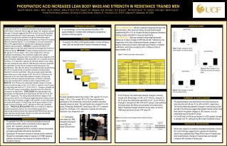 PHOSPHATIDIC ACID INCREASES LEAN BODY MASS AND STRENGTH IN RESISTANCE TRAINED MEN