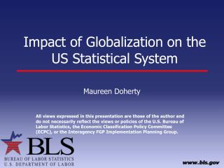 Impact of Globalization on the US Statistical System