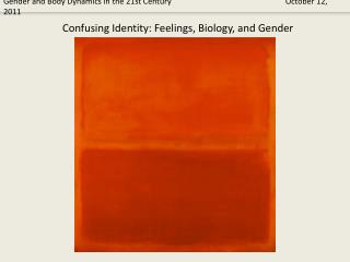 Confusing Identity: Feelings, Biology, and Gender