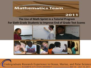 The Use of Math Sprint in a Tutorial Program