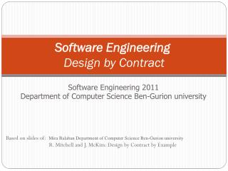 Software Engineering  Design by Contract