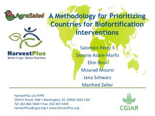 A Methodology for Prioritizing Countries for Biofortification  Interventions