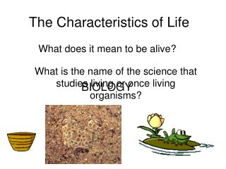 The Characteristics of Life