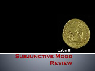 Subjunctive Mood  Review