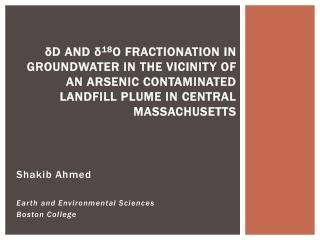 Shakib Ahmed Earth and Environmental Sciences Boston College