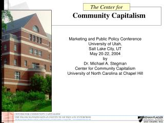 CENTER FOR COMMUNITY CAPITALISM ccc.unc