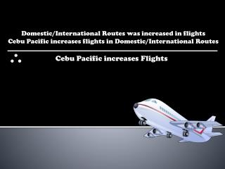 Domestic/International Routes was increased in flights