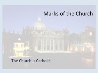 Marks of the Church