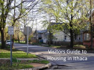 Visitors Guide to Housing in Ithaca