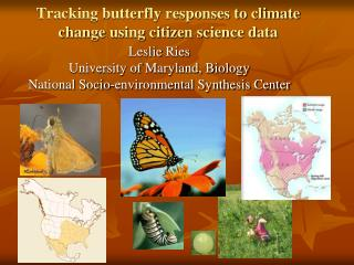 Tracking butterfly responses to climate change using citizen science data