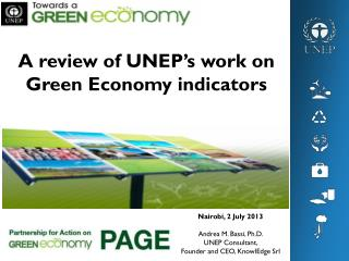 A review of UNEP's work on  Green Economy indicators