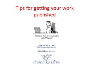Tips for getting your work published