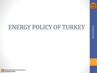 ENERGY POLICY OF TURKEY