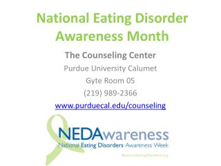 National Eating Disorder Awareness Month