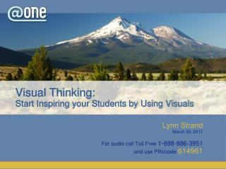 Visual Thinking:  Start Inspiring your Students by Using Visuals