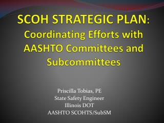 SCOH STRATEGIC PLAN : Coordinating Efforts with AASHTO Committees and Subcommittees